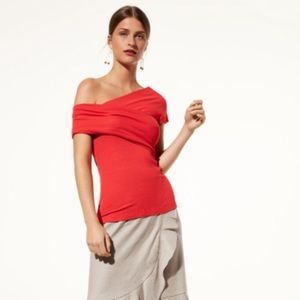Aritzia Babaton Adalard Red Top